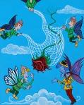 art, acrylic on canvas, jacklyn laflamme, fairy tale, image